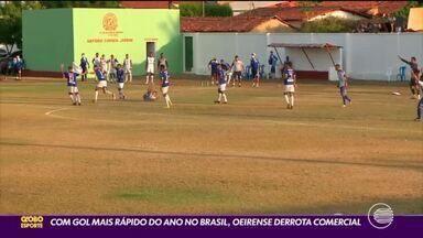 Oeirense derrota Comercial com gol mais rápido do ano no Brasil - Oeirense derrota Comercial com gol mais rápido do ano no Brasil