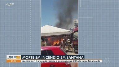 Morre menino de 11 anos que teve 60% do corpo queimado durante incêndio em Santana - Morre menino de 11 anos que teve 60% do corpo queimado durante incêndio em Santana