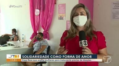 Saiba mais sobre o trabalho desenvolvido pela Casa Rosa em Santarém - Centro atende a mulheres que lutam contra o câncer. Veja como realizar doações.