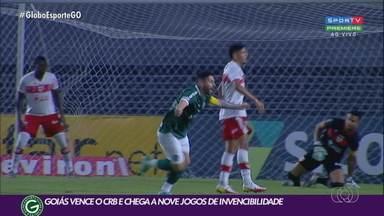 Goiás vence o CRB por 1 a 0 e pula para a vice-liderança da Série B - Élvis marca o único gol do jogo e garante a vitória esmeraldina