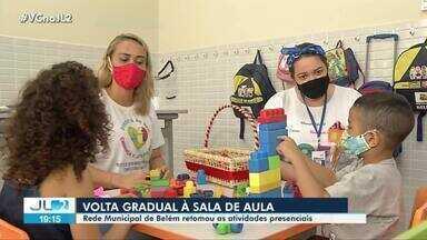 Estudantes da rede municipal de Belém voltam às salas de aula - Primeiros foram os alunos da educação infantil.