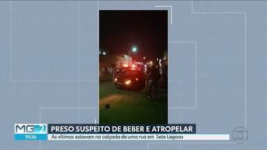 Polícia investiga atropelamento por motorista inabilitado e com sinais de embriaguez - As vítimas estavam na calçada de uma rua em Sete Lagoas, entre elas uma cadeirante.