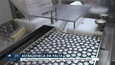 Pelo menos 11 Municípios de Rondônia tiveram que suspender a aplicação da segunda dose - Eles estão sendo obrigados a suspender a vacinação enquanto o Ministério da Saúde, não envia mais imunizantes.