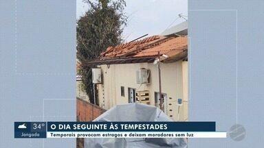 Temporais no fim de semana causaram estragos em Mato Grosso - Temporais no fim de semana causaram estragos em Mato Grosso.
