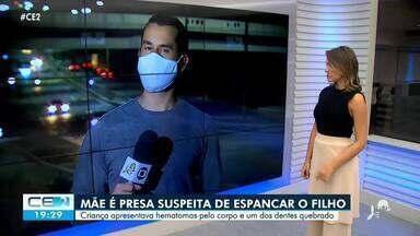 Mãe é presa suspeita de espancar filho na região do Cariri - Confira mais notícias em g1.globo.com/ce