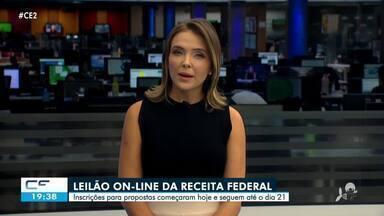 Começam inscrições para leilão on-line da Receita Federal - Confira mais notícias em g1.globo.com/ce
