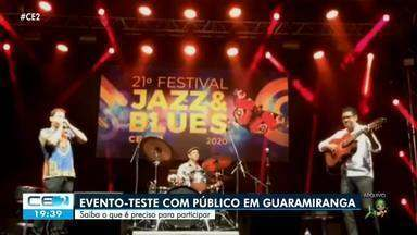 Guaramiranga vai receber o primeiro-evento teste com público na pandemia - Confira mais notícias em g1.globo.com/ce