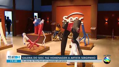 Galeria do Sesc presta homenagem ao artista sergipano Véio - Galeria do Sesc presta homenagem ao artista sergipano Véio
