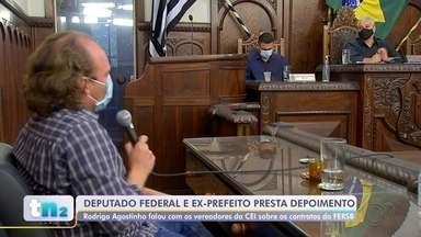 Ex-prefeito Rodrigo Agostinho presta depoimento na 'CEI da Fersb' em Bauru - Os vereadores da Comissão Especial de Inquérito que apura o contrato entre a prefeitura de Bauru e a Fundação Estatal Regional de Saúde (FERSB), ouviram o atual Deputado Federal e ex-prefeito de Bauru, Rodrigo Agostinho, nesta segunda-feira (13), como parte dos trabalhos.