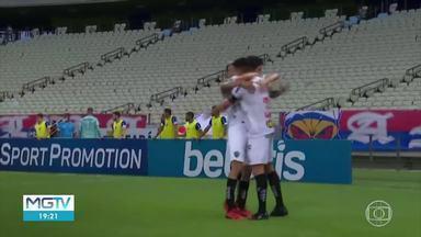 Pelo Brasileirão, Atlético-MG abre sete pontos de vantagem em relação ao Palmeiras - Galo venceu o Fortaleza.