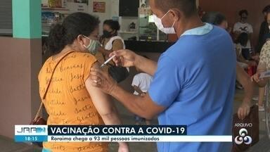 Roraima chega a 93 mil pessoas totalmente imunizadas contra a Covid - Segunda dose é importante para aumentar proteção contra a vírus.
