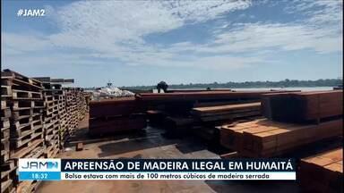 Mais de 100 metros cúbicos de madeira ilegal são apreendidos em Humaitá - Mais de 100 metros cúbicos de madeira ilegal são apreendidos em Humaitá