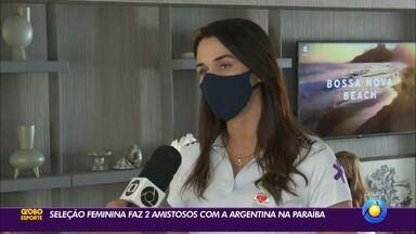 Presidente da FPF-PB fala sobre amistosos da seleção feminina com a Argentina na Paraíba - Michelle Ramalho vibra com a presença do time do Brasil no estado