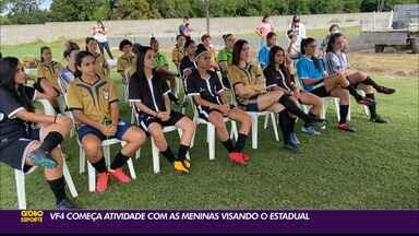VF4 inicia trabalhos no futebol feminino já pensando no Paraibano da categoria - Clube de João Pessoa vai disputar pela primeira vez a competição estadual