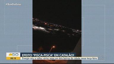 Moradores relataram problemas com energia em Catalão - Prefeitura informou que situação foi normalizada.