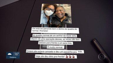 Pelé tem leve piora de saúde e volta para a UTI - Rei do Futebol apresentou breve instabilidade respiratória na madrugada desta sexta-feira