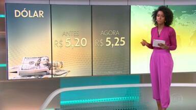Mercado financeiro revisa projeções para o dólar - Agora, a previsão é que o dólar termine o ano cotado a R$ 5,25.