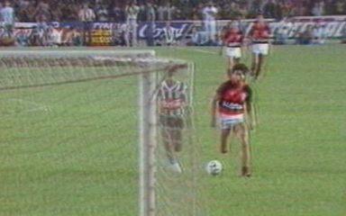 Em 1987, Flamengo vence Atlético-MG pela semifinal do Brasileiro