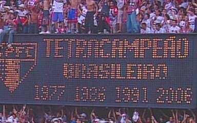Em 2006, São Paulo empata com Athletico e conquista o Brasileirão