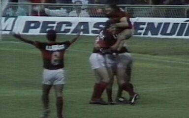 Em 1987, Flamengo vence por 1 a 0 Internacional gol de Bebeto