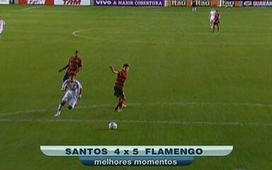 Melhores Momentos: Santos 4 x 5 Flamengo pela 12ª Rodada do Brasileirão 2011