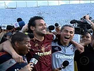 Fluminense festeja o título brasileiro de 2012