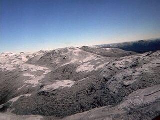 Neve é registrada no Morro do Cambirela da Grande Florianópolis