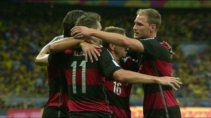 Reveja os gols de Brasil 1x7 Alemanha, pela semifinal da Copa do Mundo de 2014