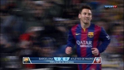 Messi marca de pênalti e Barcelona vence Atlético de Madrid na Copa do Rei da Espanha
