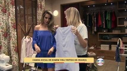 Bruna Porto ensina como fazer um vestido de criança