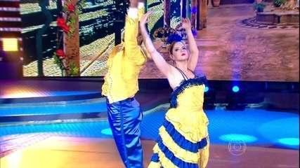 Mariana Santos e Marcus se apresentam no ritmo paso doble