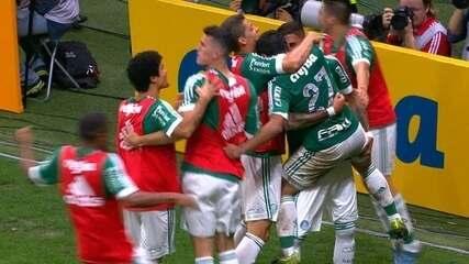 Gol do Palmeiras! Robinho cruza e Dudu marca aos 11 do 2º tempo