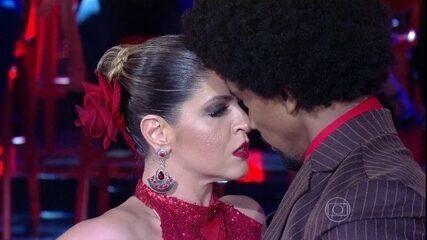 Hora do tango! Mariana Santos dá um show na final do 'Dança dos Famosos'