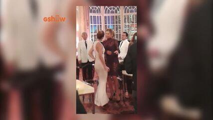 Grazi Massafera e Paolla Oliveira dançando Ludmila