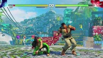 Street Fighter 5 - Confira o combate entre Ryu e Laura