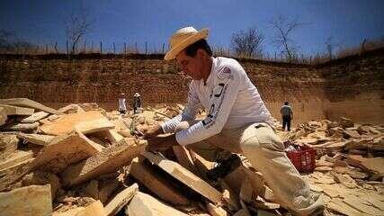 Sítio arqueológico do Cariri preserva fósseis da região que ajudam a entender o passado