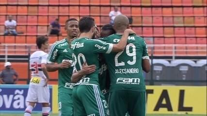 Os gols de São Paulo 0 x 2 Palmeiras pela 9ª rodada do Paulistão 2016