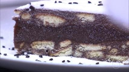 Aprenda a receita de palha Italiana recheada com brigadeiro mole