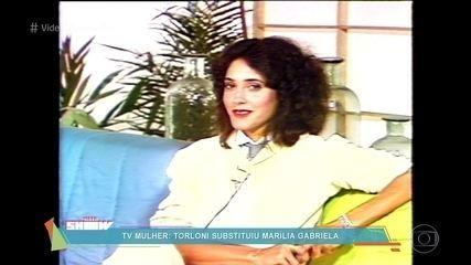 Christiane Torloni relembra apresentação do 'TV Mulher'