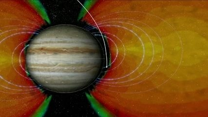 Sonda espacial realiza missão para orbitar Júpiter
