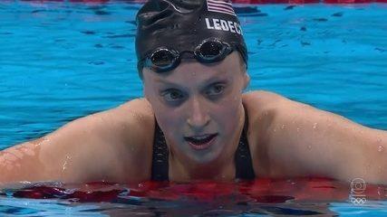 Katie Ledecky bate recorde mundial e leva o ouro nos 800m livre