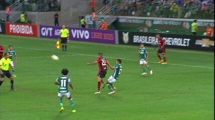 Os gols de Palmeiras 1 x 1 Flamengo pela 25ª rodada do Brasileirão