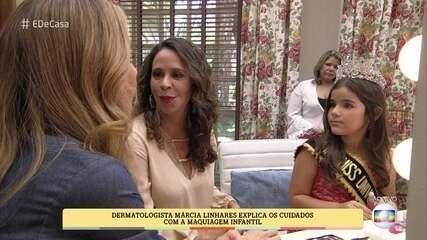 Dermatologista explica os cuidados com maquiagem infantil