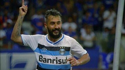 Os gols de Cruzeiro 0 x 2 Grêmio pelo jogo de ida da semifinal da Copa do Brasil
