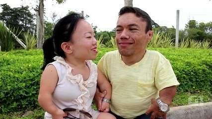 Menor casal do mundo pelo Guinness Book mostra a casa e rotina ao G1