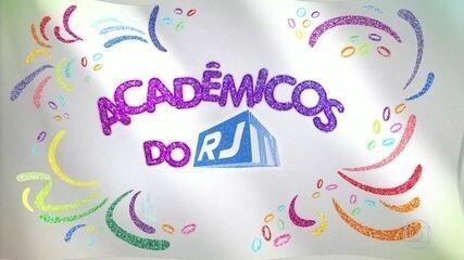Caravana da escola de samba Acadêmicos do RJ percorre a cidade.