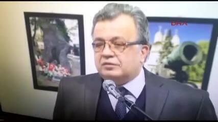 Vídeo mostra momento em que embaixador russo é baleado na Turquia