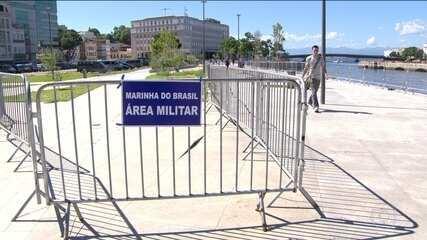 Marinha cerca área do Boulevard Olímpico na Zona Portuária do Rio