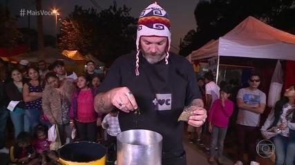 Jimmy faz Risoto de Quinoa com ingredientes típicos da Bolívia
