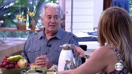 Cissa Guimarães conversa com o repórter Francisco José